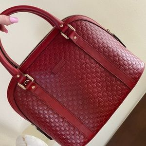 Red Gucci GG Bag